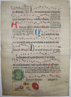 CHOIR BOOK (ANTIPHONAL) LEAF Ref 226 verso | by RMGYMss.