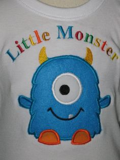 Little Monster One Eyed Monster T Shirt or by WestPointStitches, $20.00