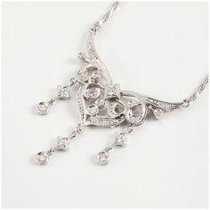 【買取】Pt900 Pt850 ダイヤモンド ネックレス/カジュアルに、ちょっとリッチに!/専門鑑定士があなたの商品を高額査定!全国どこでも自宅にいながら申込から買取まで完了します♪