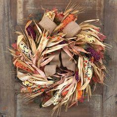 Stunning Corn Fall Wreath