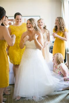Don't you just LOVE seeing happy brides! Chicago Wedding at Ravenswood Event Center | See her wedding on #SMP: http://www.stylemepretty.com/illinois-weddings/chicago/2013/12/17/chicago-wedding-at-ravenswood-event-center/  Katie Kett Photography