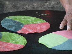 Tortillas de colores, México