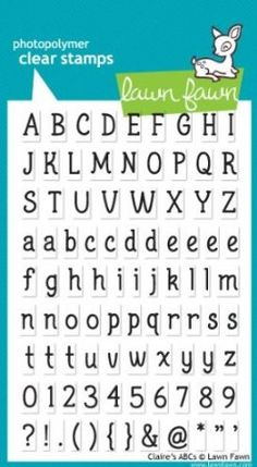 Add sentiments and captions to cards and tags with the Claire's ABCs Clear Acrylic Stamp Set by Lawn Fawn. These stamps are made from the highest quality My Stamp, Birthday Tags, Lawn Fawn Stamps, Thing 1, Small Letters, Create Words, Alphabet And Numbers, Shop Plans, Sketches