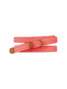 Bright braided rope belt   Gap