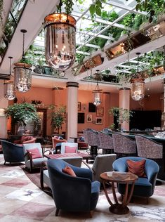The Urban Electric Company's Urban Smokebell Large shown in bronze finish with translucent antique mirror glass. Interiors by Soho House as seen in Cecconi's, Amsterdam, Netherlands. Photography by Roel Marius Brouwer. Luxury Lighting, Custom Lighting, Interior Lighting, Lighting Design, Lighting Ideas, Interior Design Inspiration, Home Decor Inspiration, Fun Restaurants In Nyc, Antique Mirror Glass