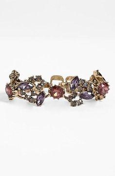 Purple hues in a stunning Anne Klein bracelet
