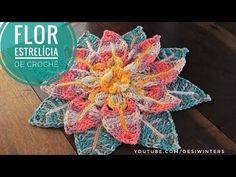 Flor de Crochê Estrelícia |#Remake| -Artes da Desi - YouTube