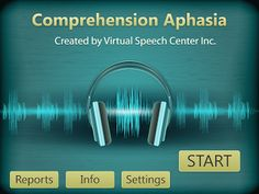 Comprehension Aphasia Simply Speech: In My APPinion. Pinned by SOS Inc. Resources http://pinterest.com/sostherapy.