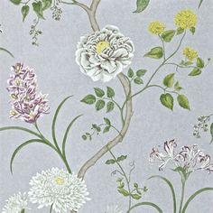Sanderson - Traditional to contemporary, high quality designer fabrics and wallpapers | Products | British/UK Fabric and Wallpapers | Summer Tree (DAPGST105) | A Painters Garden Wallpapers