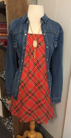 Not Just A Plaid Jane! - Show them you are not just a plaid Jane! This extra girlie plaid dress, featuring a flowy cut, fully lined style and lovely plaid fabric. Take this classy piece and style it up with a denim shirt or a leather jacket.            Available: S L XL  - $48.00