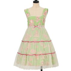 Worldwide shipping available ♪ Emily Temple cute ☆ ·. . · ° ☆ Princess print tulle Tiered sleeveless dress https://www.wunderwelt.jp/en/products/w-16324  IOS application ☆ Alice Holic ☆ release Japanese: https://aliceholic.com/ English: http://en.aliceholic.com/