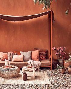 Auburn - An oasis where the seduction in copper tones - Bosnor : Bosnor Color Terracota, Warm Colors, Colorful Interiors, House Colors, Interior Inspiration, Color Inspiration, Home And Living, Living Spaces, Living Rooms