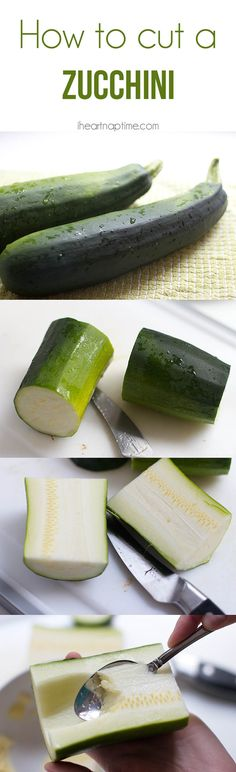 Tips and tricks on how to cut a zucchini from iheartnaptime.com #tips #cooking
