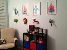 Brandon's Room- superhero nursery/ comic book nursery - design by Kmak