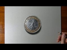 The one euro coin - drawing - YouTube