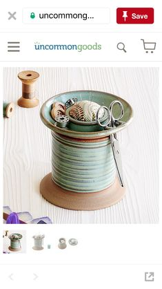 Sewing organizer clay bobbin