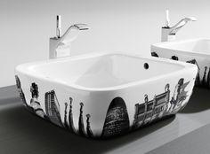 modernes Modell Waschbecken von Roca - Urban Barcelona