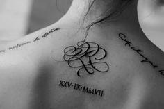 monogram paris calligraphy tattoo theosone