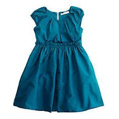 Girls' taffeta Joliette dress
