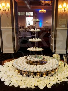 Six tiered cake ball display