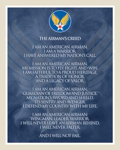 Image detail for -Cannon Air Force Base - Airmans Creed