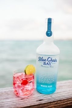 FLYING MONKEY COCKTAIL // 1 oz. Blue Chair Bay White Rum + .5 oz. hpnotiq liqueur + .5 oz. raspberry liqueur + lemon-lime soda // Shake all ingredients except for lemon-lime soda in a shaker with some ice. Give it a good shake and pour into cocktail glass. Fill with ice and lemon lime soda. Add a cherry or slice of lime.