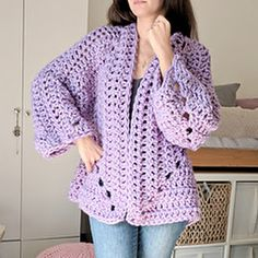 Super Chunky Hexagon Cardigan pattern by Michelle Greenberg