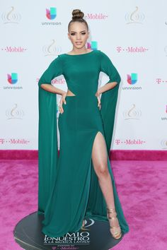 Alexander Tamargo/Getty Images For Univision Deportes Leslie Grace, Leeteuk, Dressy Outfits, Demi Lovato, Super Junior, Bellisima, Formal Dresses, Fashion, Musica