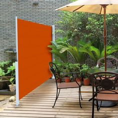 Retractable privacy can easily be added to your deck or patio with Horizontal Shades.