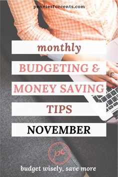 Budget for these in November to stick to your budget. Produce in season and things on discount to stock up for future savings. Plus plan ahead to save more. Your monthly guide to a frugal, planned life. Best Budgeting Tools, Budgeting Money, Ways To Save Money, Money Saving Tips, Household Budget, Managing Money, Monthly Budget, Get Out Of Debt, Life Plan