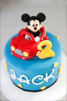 Mickey Mouse cake by Bake-a-boo Cakes NZ, via Flickr