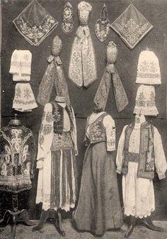 Torontali magyar népviselet - Erdély Folk Costume, Costumes, Hungarian Embroidery, My Heritage, Eastern Europe, Historical Clothing, Headdress, Traditional Dresses, Folk Art
