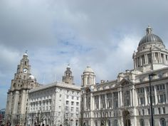 The Three Graces - Liver Building, Port Authority & Cunard Building, Liverpool.