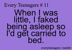 i did that. but then i tried doing that yesterday and i got left in the car. i'm 14