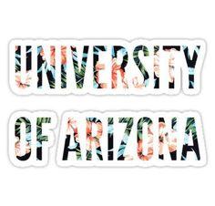 Floral University of Arizona Stickers