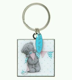 Me to You Bear with Bunting Square Enamel Keyring Brand new with tags Tatty Teddy, Bunting, All Things, Enamel, Charmed, Bear, Personalized Items, Cupboard, Homes
