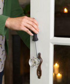 How to tighten a loose interior door knob. | Photo: John Gruen | thisoldhouse.com