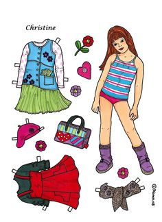 Karen`s Paper Dolls: Christine 1-4 Paper Doll to Print in Colours. Christine 1-4…