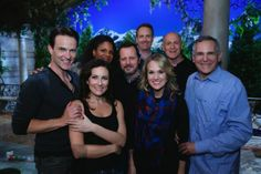 Stephen Moyer and some of the cast at the wrap party for The Sound of Music