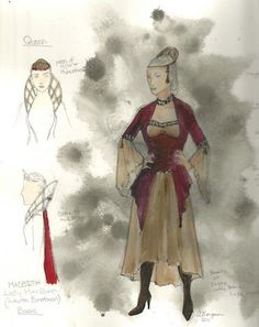 Costume Designs for the show! –Double Tragedy 2011-12 #Macbeth #LadyMacbeth #Shakespeare #Costume #Design #Fashion #Toronto #Theatre #Stage #Production #Student #Youth #Education #Drawing #Dress