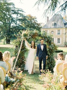 Gorgeous French Chateau de Bouthonvilliers Wedding Inspiration – Wike Zijlstra Photography 28  Chateau wedding venues give us stunning inspirations to daydream of.  #bridalmusings #bmloves #wedding #bride #groom #apps #Châteauwedding #weddinginspiration #inspiraion #France #Chateau French Chateau Wedding Venues, French Wedding Style, Outdoor Ceremony, Wedding Ceremony, Wedding Bride, Bride Groom, Intimate Weddings, Real Weddings, Early Fall Weddings