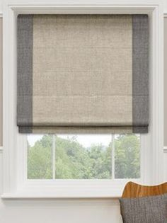 2-toned linen Roman Shade for the KITCHEN/BREAKFAST ROOM