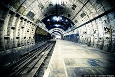 10 Bucket-List Places You'll Almost Definitely Never Get To See-Aldwych Tube Station, London During World War II, this subway station was used as an air raid shelter and a hiding place for artworks from the National Gallery.