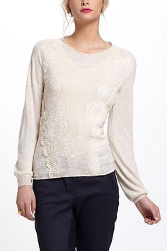 Eyelash Lace Pullover #anthropologie