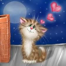 Cat On A Hot Tin Roof ~ Alexis Dolotov ~ pussycatdreams.centerblog.net