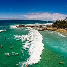 Rainbow Bay Gold Coast queensland Australia  #drone #drones #dji #phantom2 #queensland #goldcoast #snapperrocks #surfing #waves #ocean #barrel #uav #beach #aerial #gopro #nature #wildlife #water #sunset #sky #flying #visiontravel #travelworld  #mlm  #networkmarketing  #networker  #traveling by nabylangelic