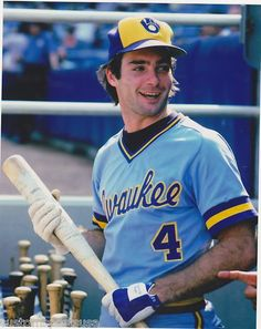 In Game Brewers' leadoff batter Paul Molitor becomes the first player to collect five hits in a World Series game. Mlb Uniforms, Baseball Uniforms, Baseball Jerseys, Baseball Players, Baseball Cards, Basketball Rules, Baseball Star, Mlb Players, Basketball Leagues