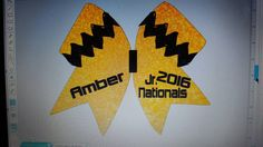 Check out this item in my Etsy shop https://www.etsy.com/listing/264256327/jr-nationals-cheer-bow-charlie-brown