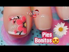 Toe Nail Art, Toe Nails, Pedicure Nails, Manicure, Merry Christmas Gif, Nail Salon Design, Nail Art Videos, Nail Colors, Nail Designs