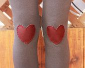 My Leather Heart Leggings // size small, medium or large